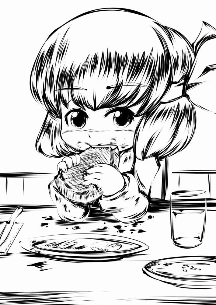 【肉欲】ステーキを頬張る女子達の二次画像【16】