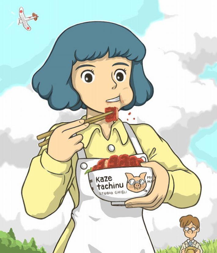 【カツ丼食えよ】カツ丼食ってる女子達の二次画像【カツ丼食えよぉ!?】【14】