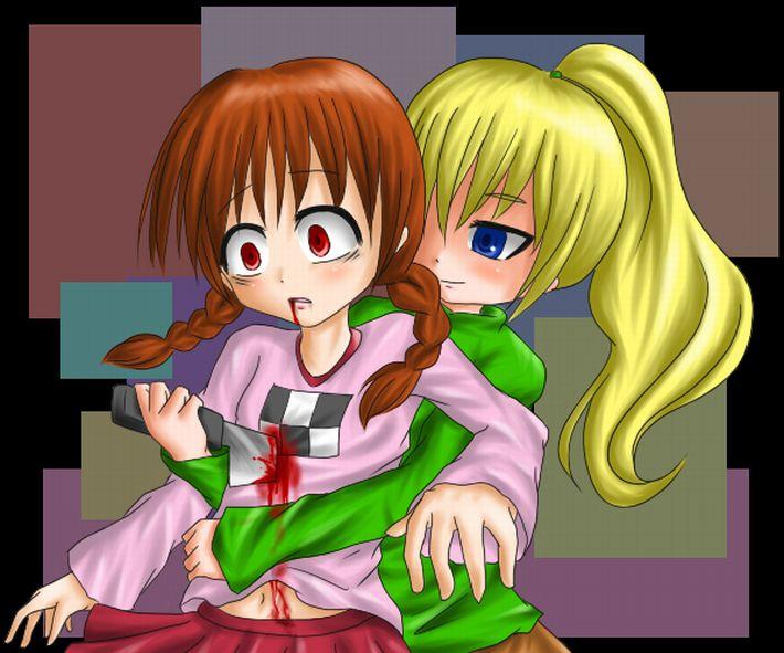 【痛そう】身体に刃物が刺さってる女の子達の二次リョナ画像【18】