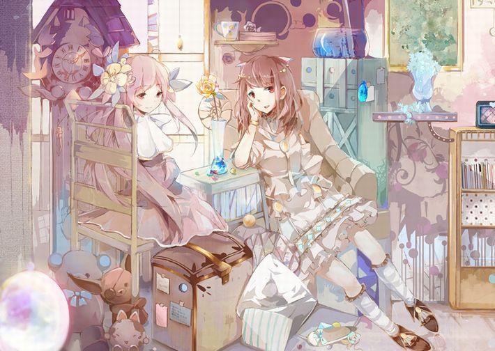 【あらかわいい】鳩時計と美少女の二次画像【いやよくみたらクソむかつく】【3】