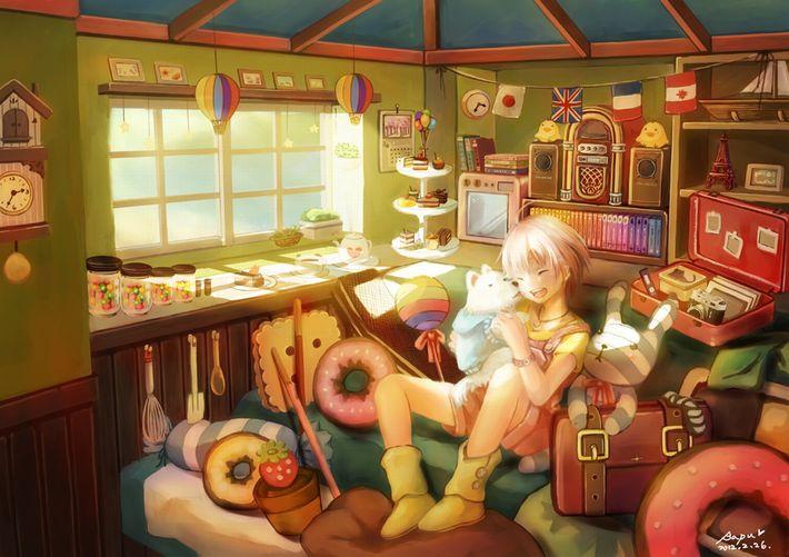 【あらかわいい】鳩時計と美少女の二次画像【いやよくみたらクソむかつく】【6】