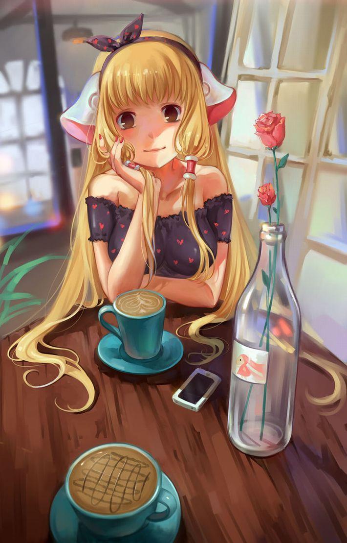 【西海岸で飲む】意識高そうなカフェでコーヒーを楽しむ女子達の二次画像【いつもの味】【2】