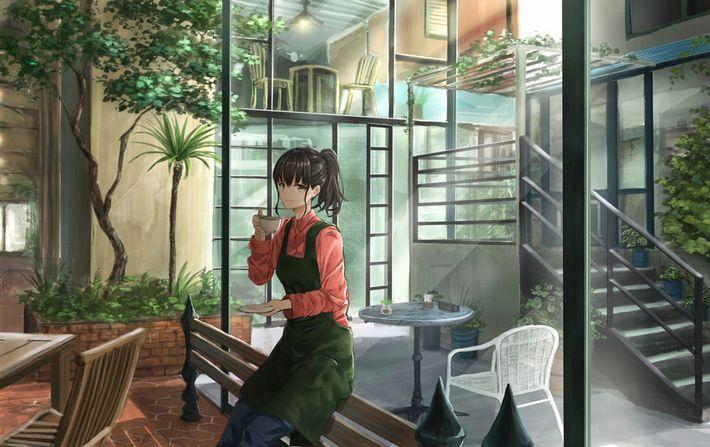 【西海岸で飲む】意識高そうなカフェでコーヒーを楽しむ女子達の二次画像【いつもの味】【3】