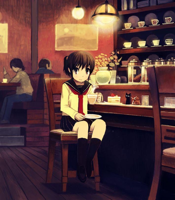 【西海岸で飲む】意識高そうなカフェでコーヒーを楽しむ女子達の二次画像【いつもの味】【9】