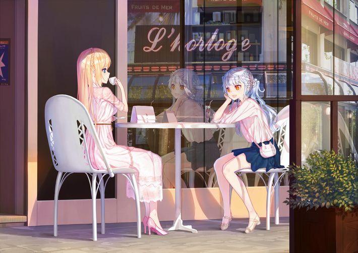 【西海岸で飲む】意識高そうなカフェでコーヒーを楽しむ女子達の二次画像【いつもの味】【12】