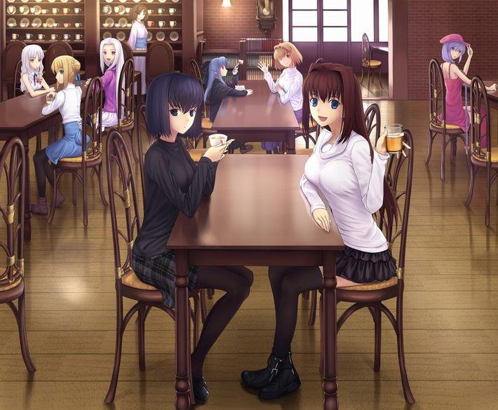 【西海岸で飲む】意識高そうなカフェでコーヒーを楽しむ女子達の二次画像【いつもの味】【16】