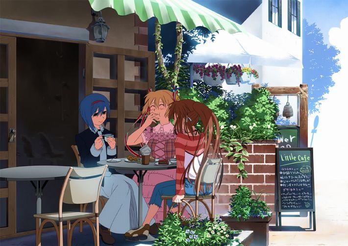 【西海岸で飲む】意識高そうなカフェでコーヒーを楽しむ女子達の二次画像【いつもの味】【17】