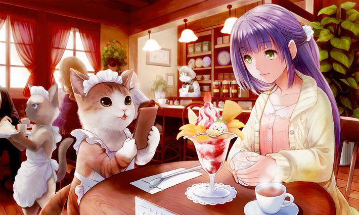 【西海岸で飲む】意識高そうなカフェでコーヒーを楽しむ女子達の二次画像【いつもの味】【28】