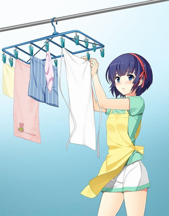 【今日は良い天気】洗濯物を干してる美少女達の二次画像【4】