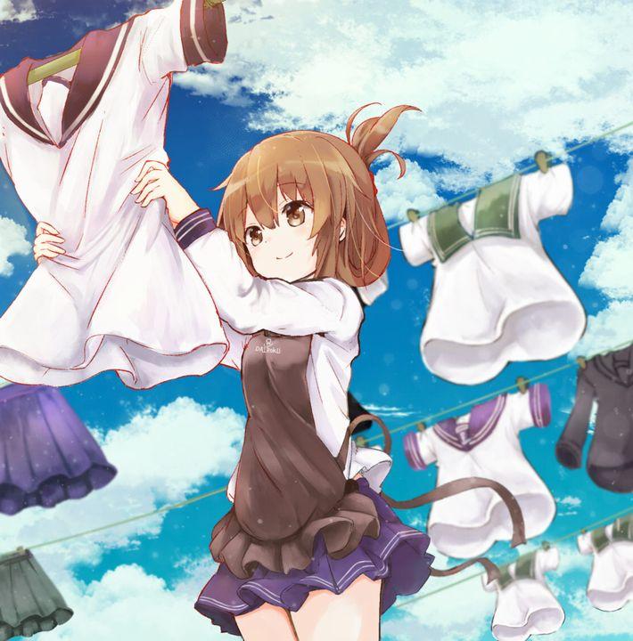 【今日は良い天気】洗濯物を干してる美少女達の二次画像【17】
