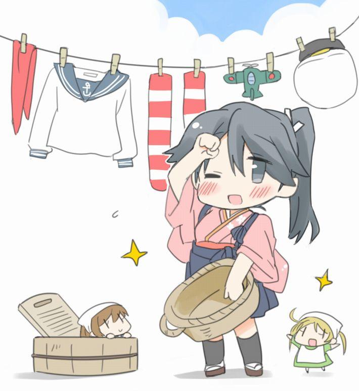 【今日は良い天気】洗濯物を干してる美少女達の二次画像【24】