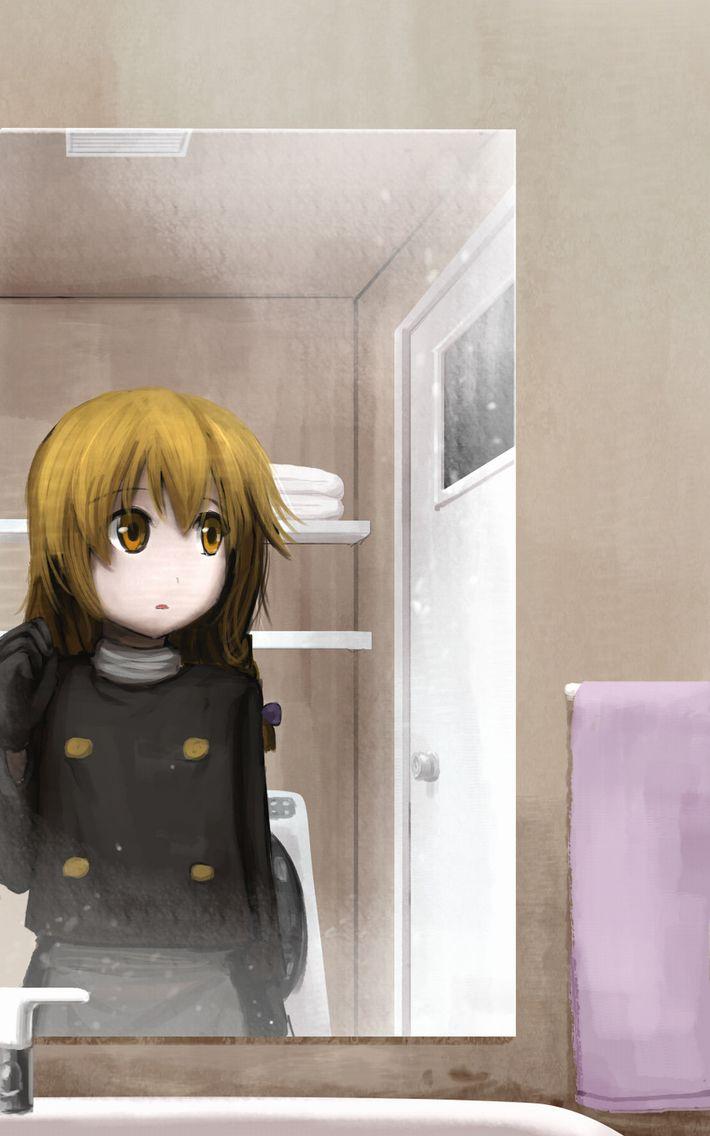 【着替えたり】洗面台の鏡の前の二次エロ画像【歯磨きしたり】【31】