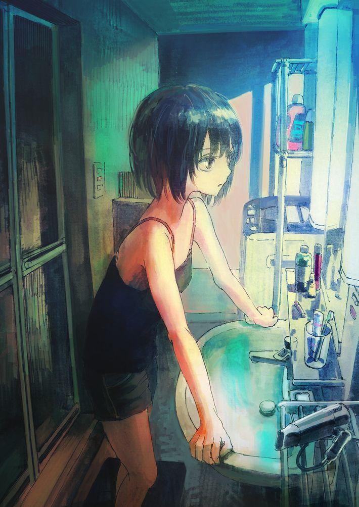 【着替えたり】洗面台の鏡の前の二次エロ画像【歯磨きしたり】【38】