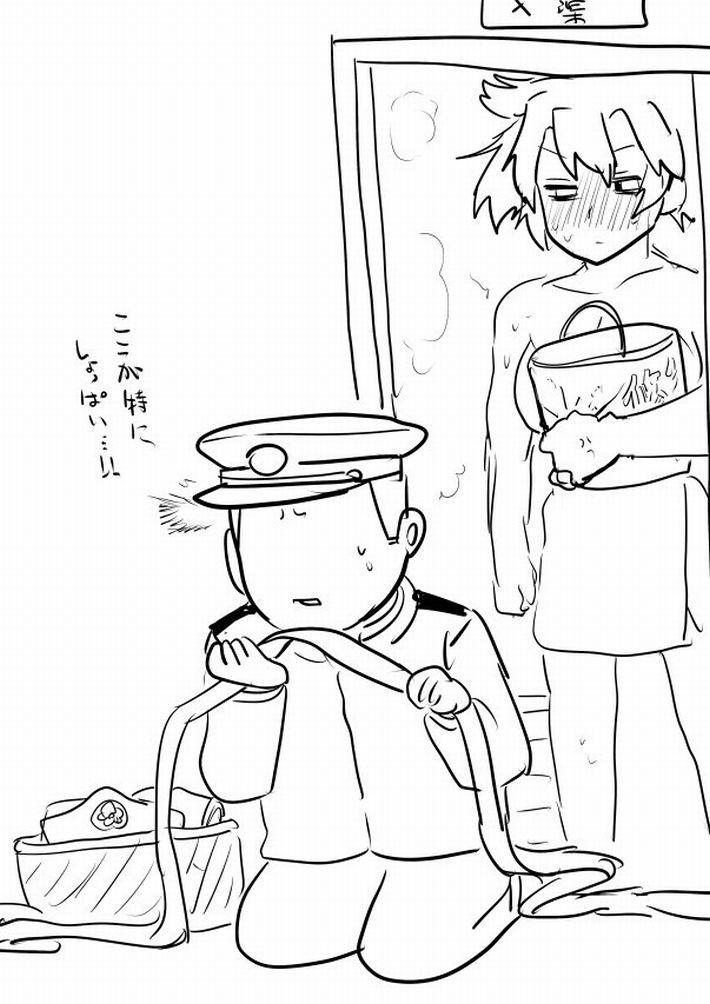 【エロ漫画のお約束】下着のニオイ嗅いでオナってたらバレた!な二次エロ画像【16】
