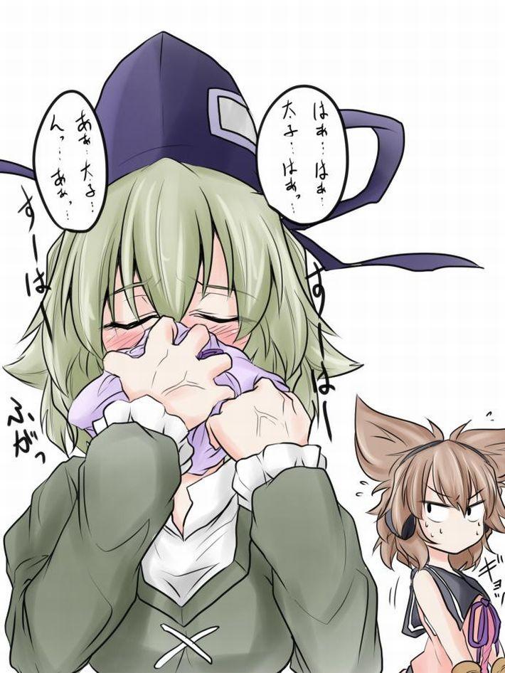 【エロ漫画のお約束】下着のニオイ嗅いでオナってたらバレた!な二次エロ画像【25】