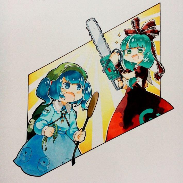 【HはHでも】チェーンソーを手にした女子達の二次エロ画像【Hellのほうだがなぁーっ!】【25】