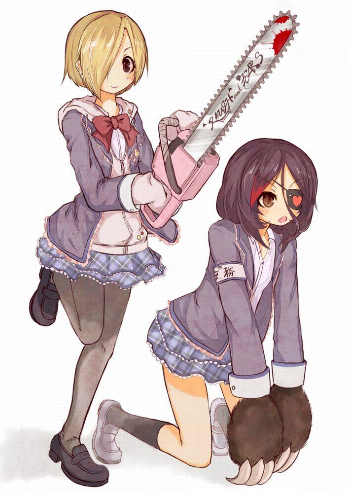 【HはHでも】チェーンソーを手にした女子達の二次エロ画像【Hellのほうだがなぁーっ!】【30】