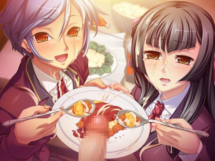 【マヨネーズかな?】食事にザーメントッピングされてる女子達の二次食ザー画像【15】