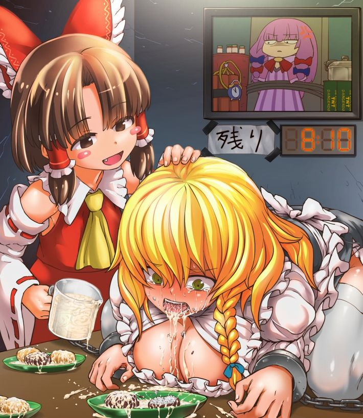 【マヨネーズかな?】食事にザーメントッピングされてる女子達の二次食ザー画像【36】