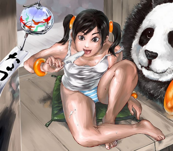 【あっパンダだ!!】2月22日はネコの日なので・・・大熊猫ことパンダと美少女の二次画像【カワイイーッ】【7】