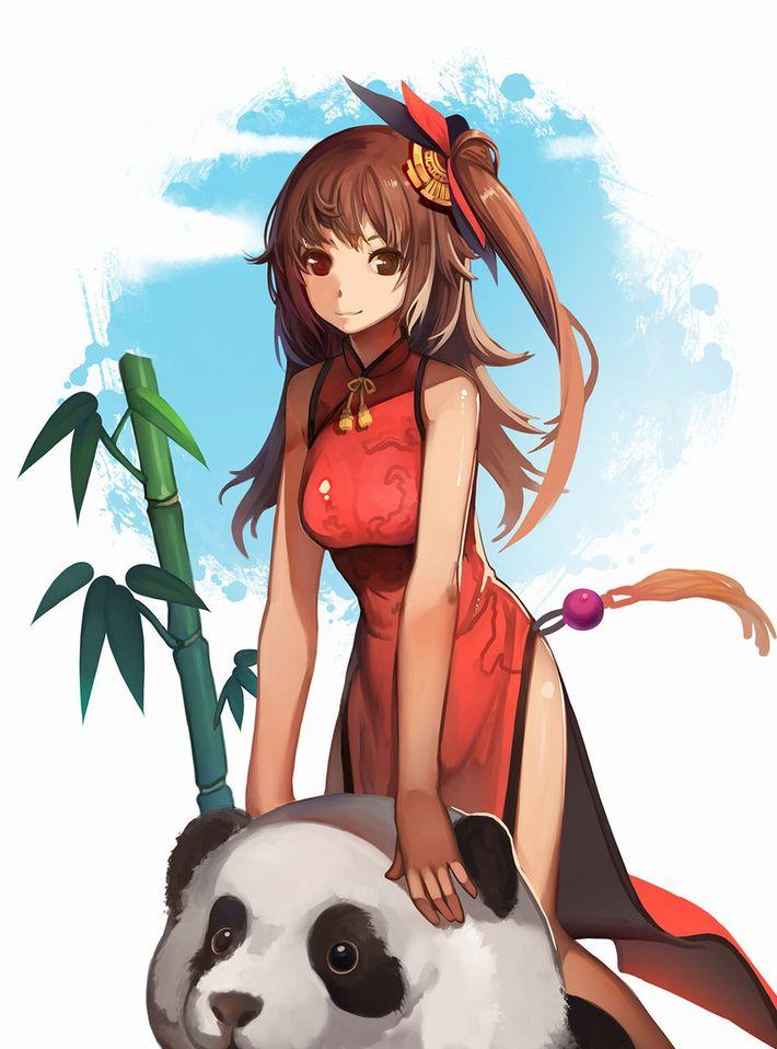 【あっパンダだ!!】2月22日はネコの日なので・・・大熊猫ことパンダと美少女の二次画像【カワイイーッ】【11】