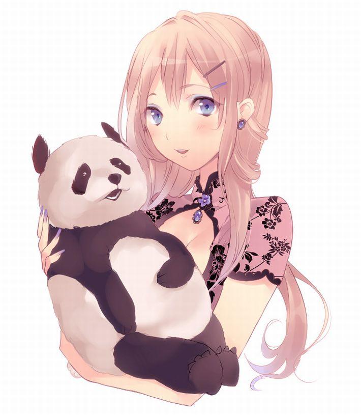 【あっパンダだ!!】2月22日はネコの日なので・・・大熊猫ことパンダと美少女の二次画像【カワイイーッ】【26】