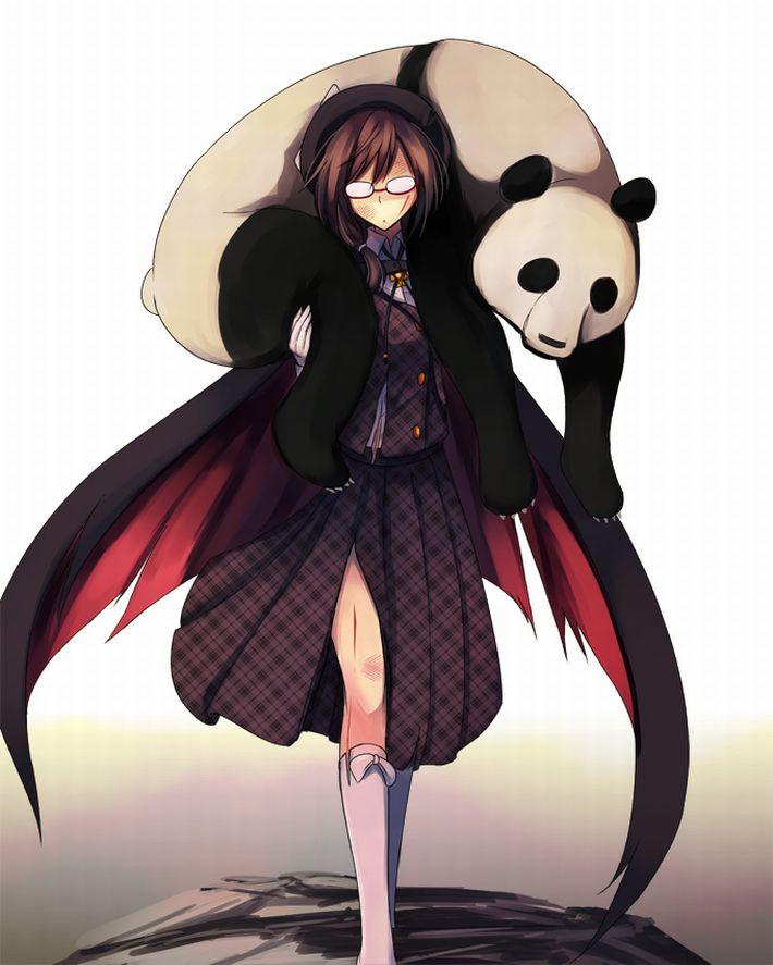 【あっパンダだ!!】2月22日はネコの日なので・・・大熊猫ことパンダと美少女の二次画像【カワイイーッ】【31】