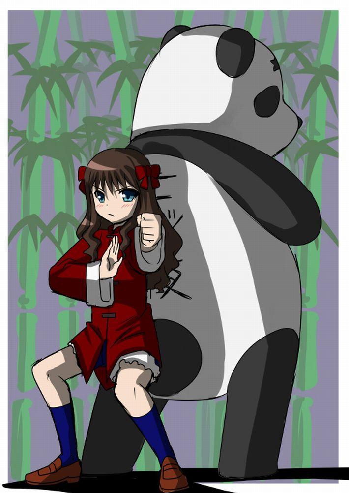 【あっパンダだ!!】2月22日はネコの日なので・・・大熊猫ことパンダと美少女の二次画像【カワイイーッ】【33】