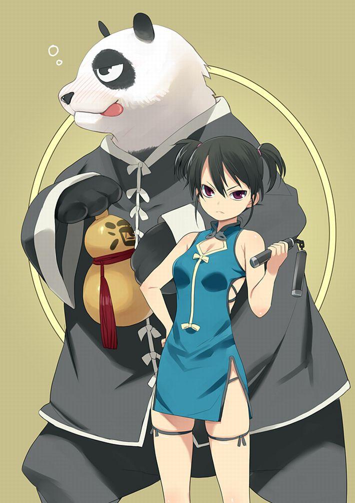 【あっパンダだ!!】2月22日はネコの日なので・・・大熊猫ことパンダと美少女の二次画像【カワイイーッ】【38】