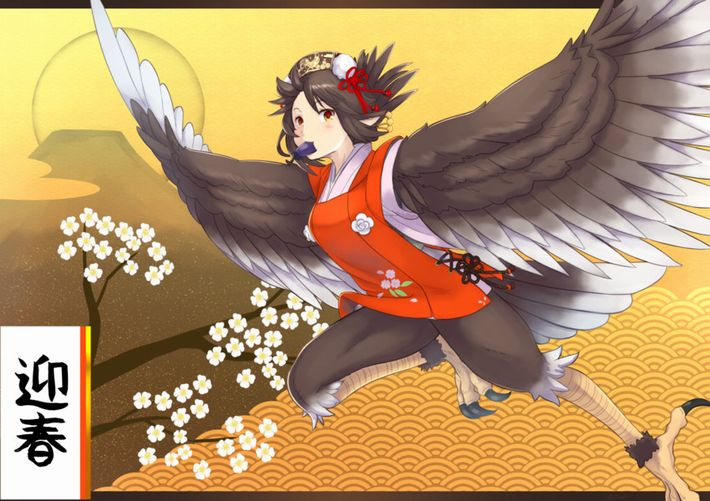 【1富士2鷹3ナスビ】正月のめでたい光景と美少女の二次画像【19】