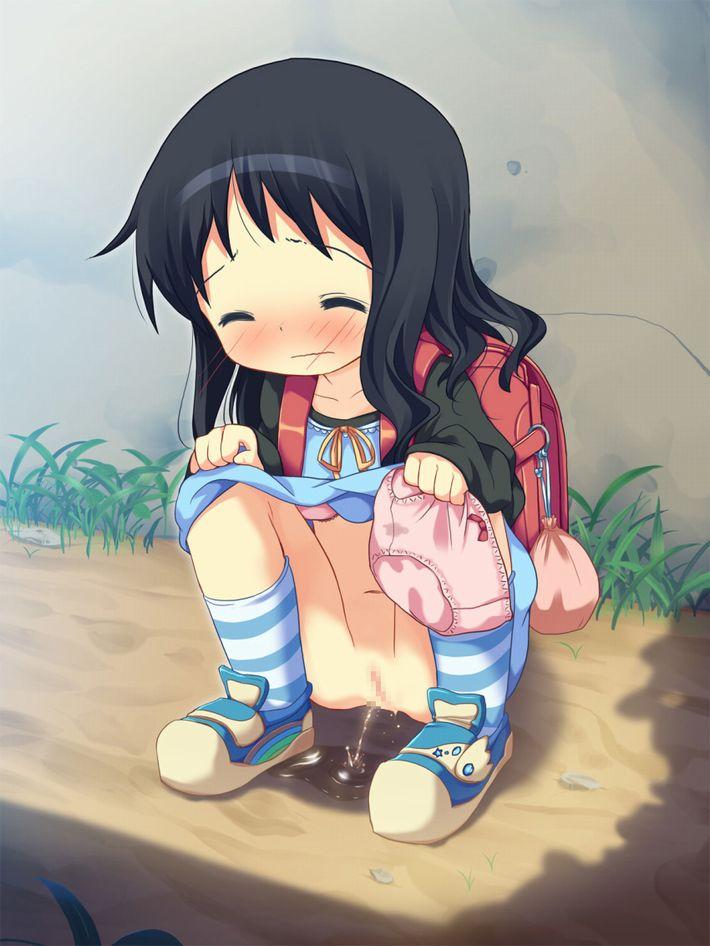 【マンコは拭けない】野ション真っ最中な女子達の二次エロ画像【5】