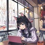 【西海岸で飲む】意識高そうなカフェでコーヒーを楽しむ女子達の二次画像【いつもの味】