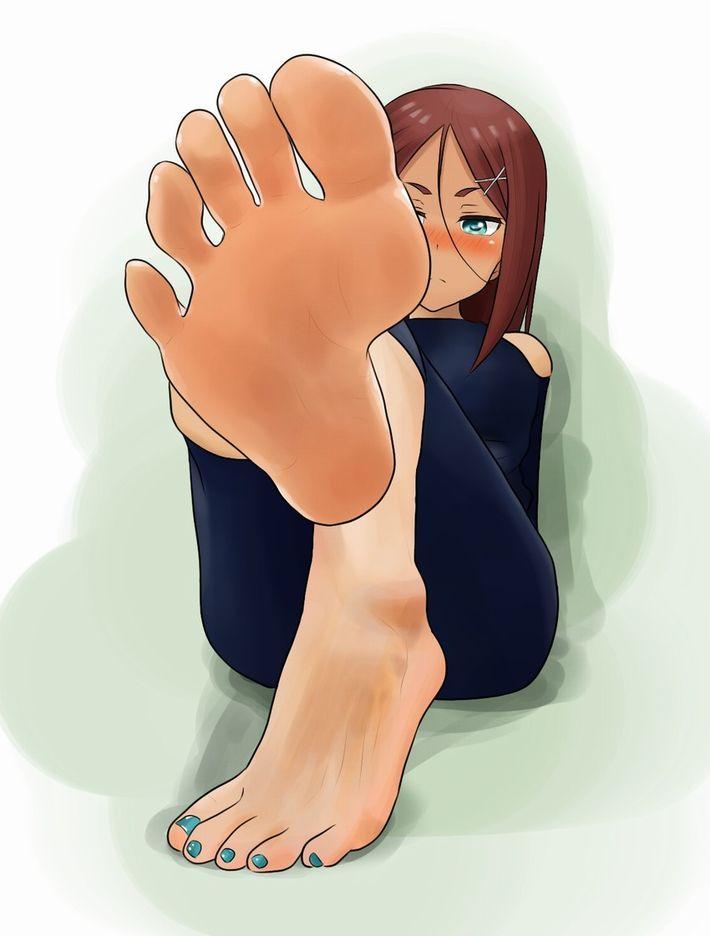 【足フェチ必見】足の裏をこちらにアップで向けてる二次エロ画像【11】