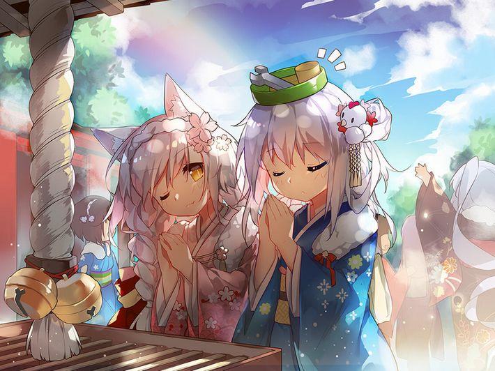 【まず一揖】神社に参拝中な女の子達の二次画像【最期にまた一揖しておわり】【12】
