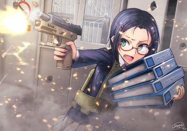 【労働の対価は払ってもらう】銃をッカッコ良く構えている女子達の二次画像【お前の命でな】【1】