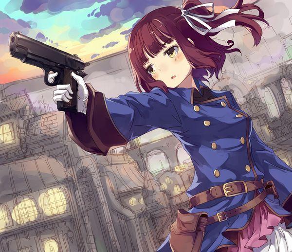 【労働の対価は払ってもらう】銃をッカッコ良く構えている女子達の二次画像【お前の命でな】【7】