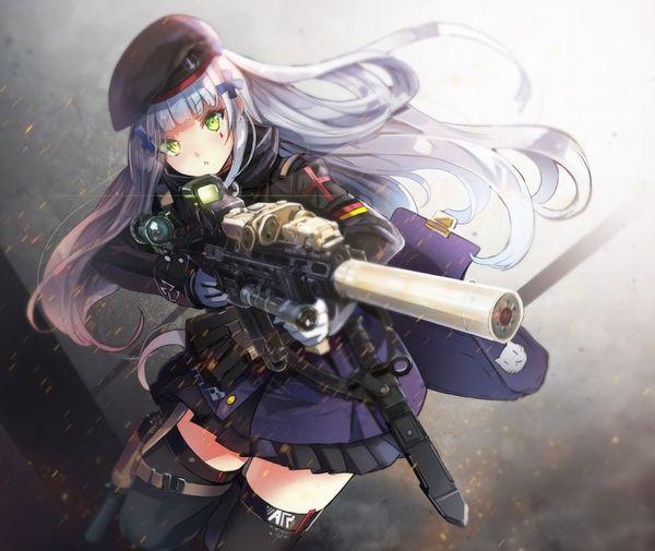 【労働の対価は払ってもらう】銃をッカッコ良く構えている女子達の二次画像【お前の命でな】【13】
