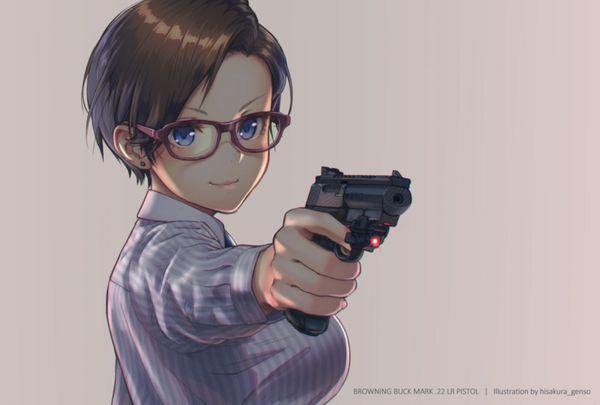 【労働の対価は払ってもらう】銃をッカッコ良く構えている女子達の二次画像【お前の命でな】【23】