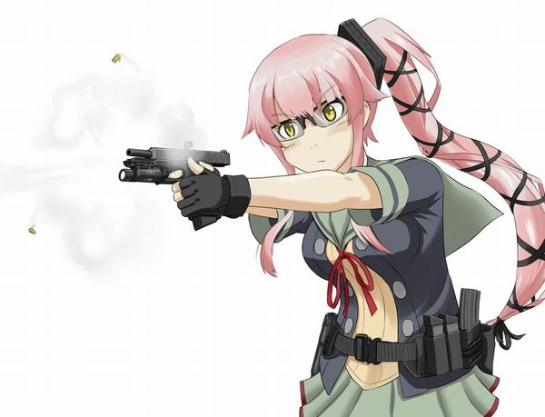 【労働の対価は払ってもらう】銃をッカッコ良く構えている女子達の二次画像【お前の命でな】【24】