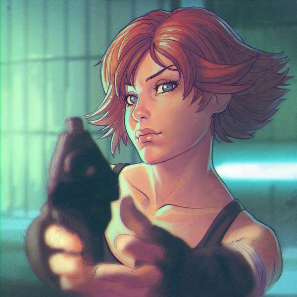 【労働の対価は払ってもらう】銃をッカッコ良く構えている女子達の二次画像【お前の命でな】【31】