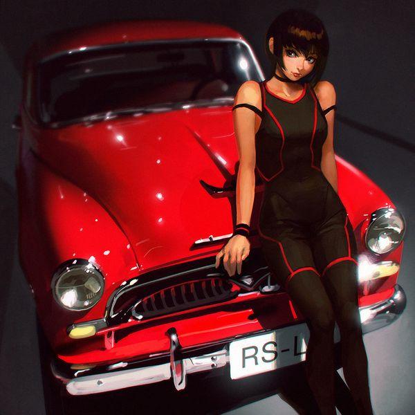 【血の色をごまかせるな】赤い車と女の子の二次画像【17】