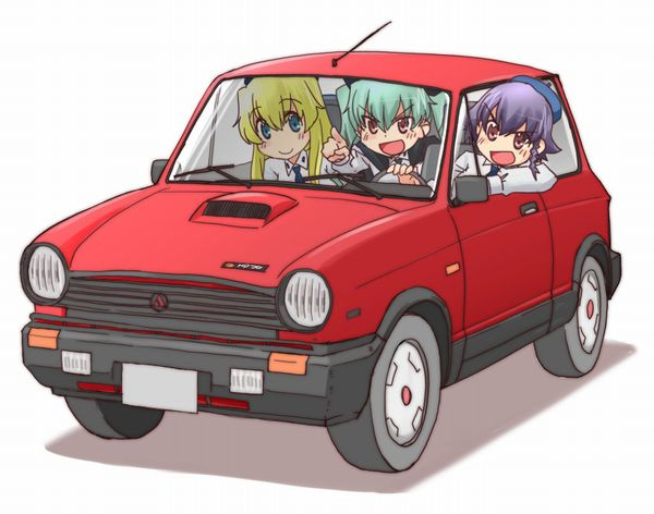 【血の色をごまかせるな】赤い車と女の子の二次画像【20】