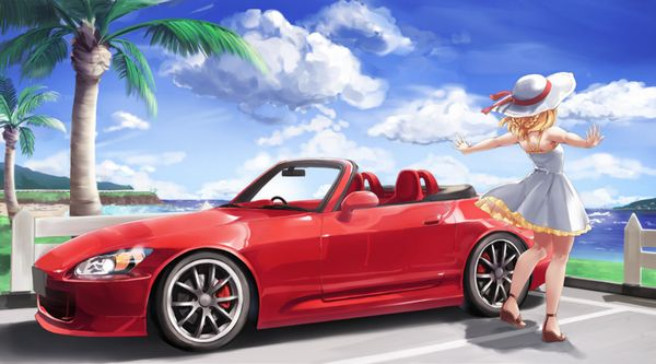 【血の色をごまかせるな】赤い車と女の子の二次画像【22】