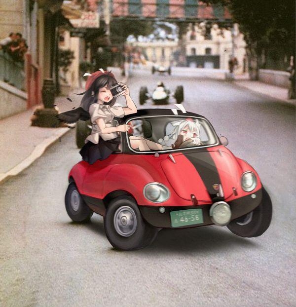 【血の色をごまかせるな】赤い車と女の子の二次画像【31】