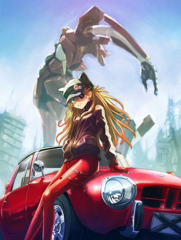 【血の色をごまかせるな】赤い車と女の子の二次画像【36】