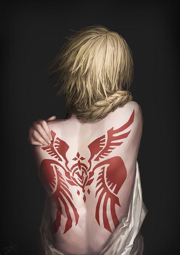 【背中に地図が!】背中にタトゥー入ってる女子達の二次エロ画像【9】