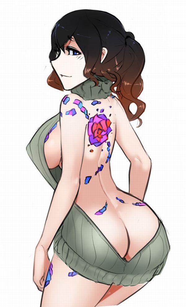 【背中に地図が!】背中にタトゥー入ってる女子達の二次エロ画像【27】
