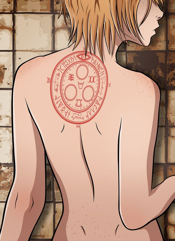 【背中に地図が!】背中にタトゥー入ってる女子達の二次エロ画像【32】