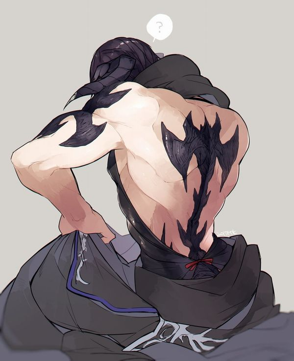 【背中に地図が!】背中にタトゥー入ってる女子達の二次エロ画像【38】