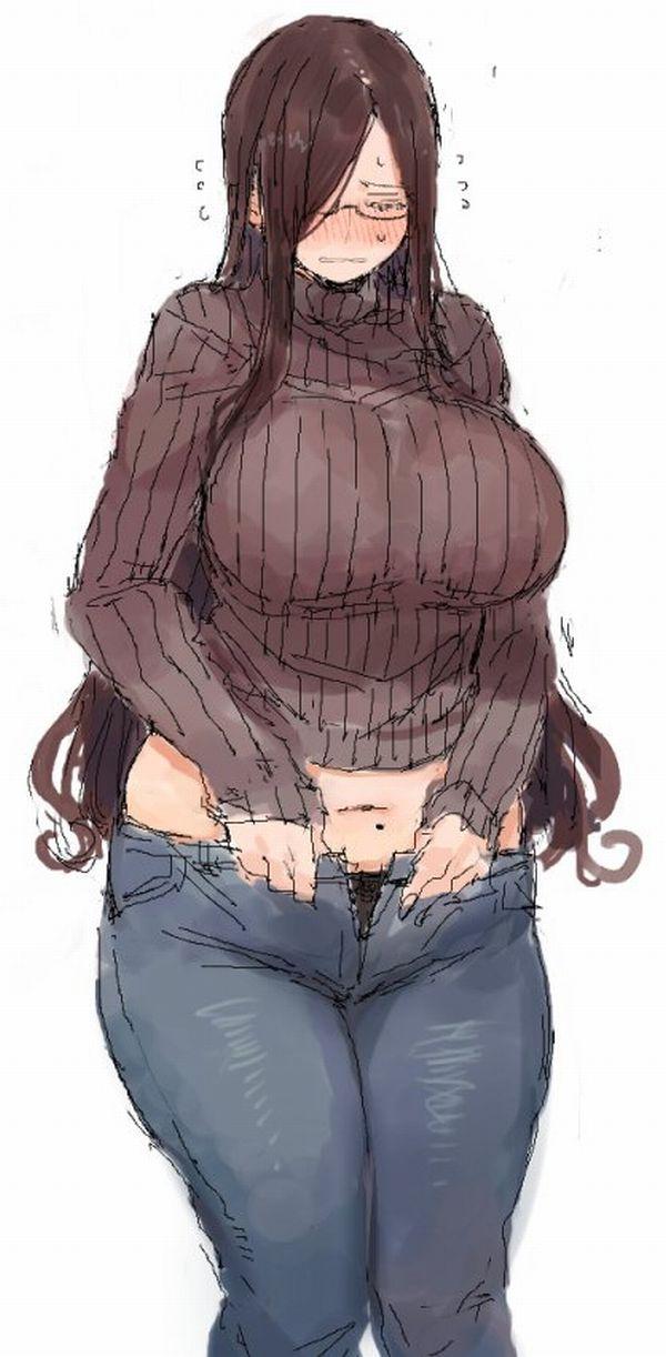 【油断】パンツやズボンに腹の肉が思いっきり乗っかってる二次エロ画像【33】